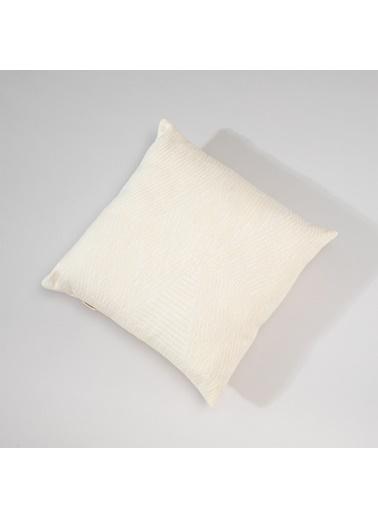 Chakra Velda Dekoratıf Yastık 45*45 Ekru-Polen Ekru